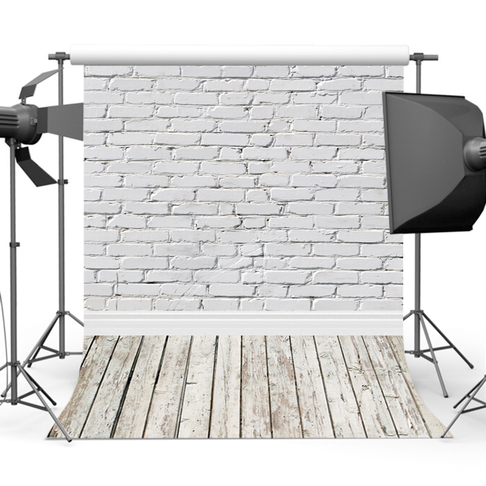 Mehofoto Brick Wall Photography Background Wooden Floor