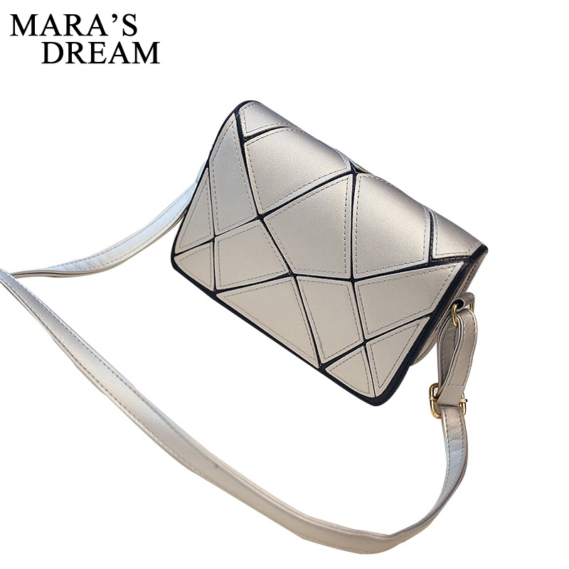 цены Mara's Dream Women Handbags Small Plaid Women Bags Lady Plaid Shoulder Crossbody Bags PU Leather Women Messenger Bag