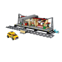 IN STOCK Lepin 02015 City Trains Series 60050 Train Station With Rail Track Taxi Building Block
