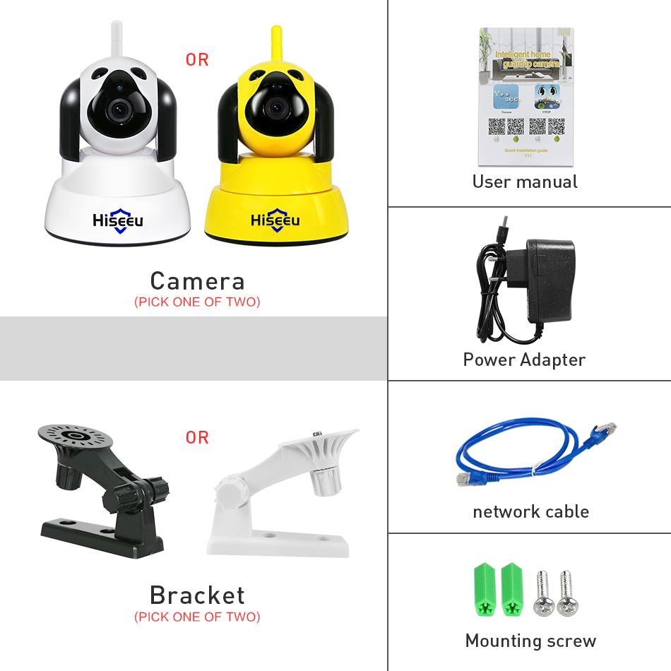 hiseeu Strona główna Bezpieczeństwo Kamera IP Wi-Fi Bezprzewodowy - Bezpieczeństwo i ochrona - Zdjęcie 6
