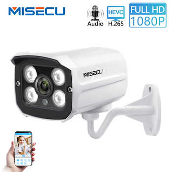 MISECU H.265 Audio Camera Sound Record DC 12V 48V POE Waterproof Metal 2.0MP Full HD Motion detect RTSP FTP Onvif Night vision - DISCOUNT ITEM  50% OFF All Category