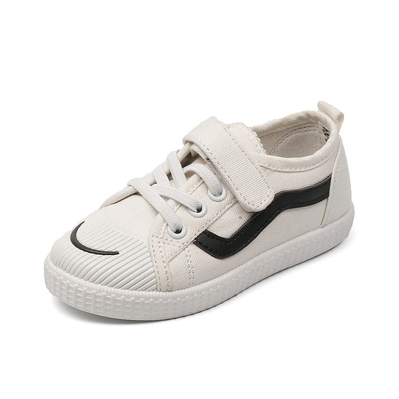 JGVIKOTO Kids White Shoes Fashion Hot Sale Boys Girls Casual Canvas Shoes School Sports Running Soft Breathable Children Sneaker