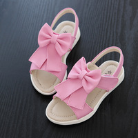 Girls 2017 Summer Sandals Shoes Little Kids Open Toed Sandals Slipers Children Toddlers Beautiful Bow Princess