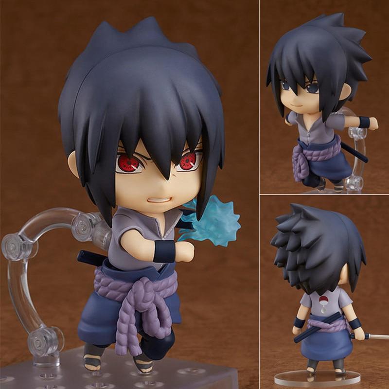 Naruto Sasuke Nendoroid Action Figure Uchiha Sasuke Kawaii Collection PVC Action Figure Model Toy Gifts 10cm shfiguarts naruto uchiha itachi moloing and movable pvc action figure collectible model toy 16cm