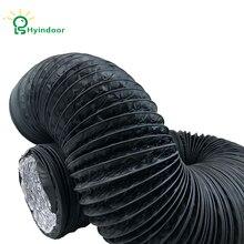Hyindoor 6 дюймов воздуховод 6.5FT(2 м) длинный, черный гибкий воздуховод HVAC вентиляционный воздушный шланг для выращивания палаток, сушильных помещений, Kitche