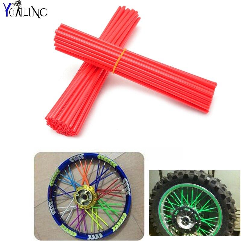 72Pcs Wheel RIM Spoke Skins Sticker Accessories Dirt Bike For SUZUKI DJEBEL250 DRZ650 RM85 RMX250 RMX450 E L R S SE SM XC Z