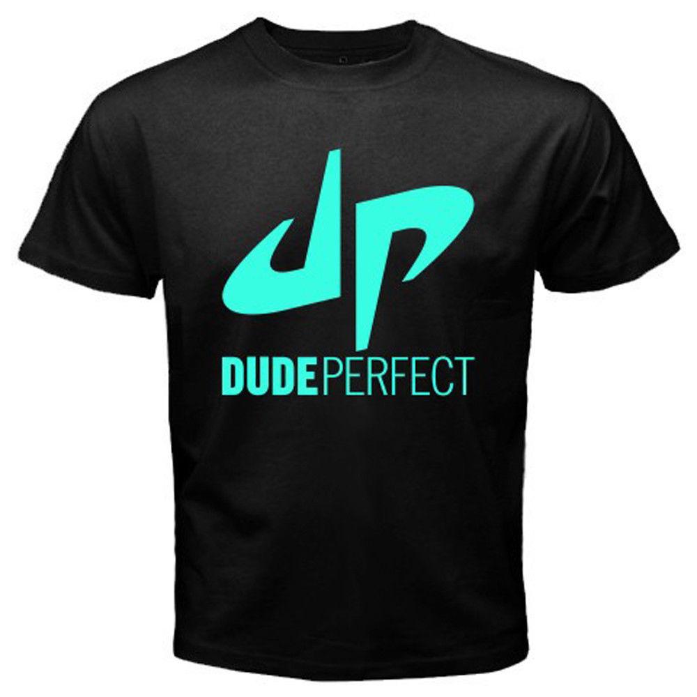 New Dude Perfect Logo Famous Vlogger Men's Black T Shirt