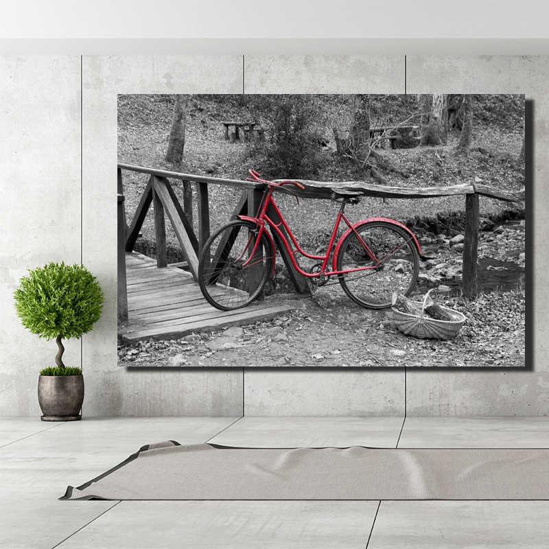 Hd impressão clássico bicicletas casa bens arte da parede paitenders, cores frescas paisagem paitenders para a parede da sala de estar, cuadros posters