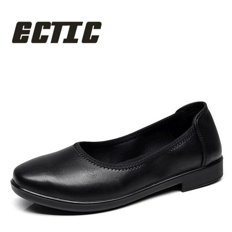 ECTIC 2018 mature women casual leather shoes comfortable soft Non-slip flat shoes fashion lightweight driving shoes girls QQ-005 hot sale 2018 new fashion lightweight breathable shoes leather flat women shoes comfortable classic style casual sneakers