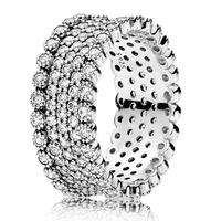 Original 925 Sterling Silver Lavish Sparkle Ring With Crystal Pandora Rings For Women Wedding Party Gift Fine Jewelry