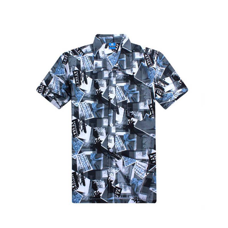 Sommer Herren Surfbrett Shortboard Strand Shirts Pool Tragen Quick-dry Kühlen Hawaiian Shirt Bunte kurzhülse Surf Top ferien