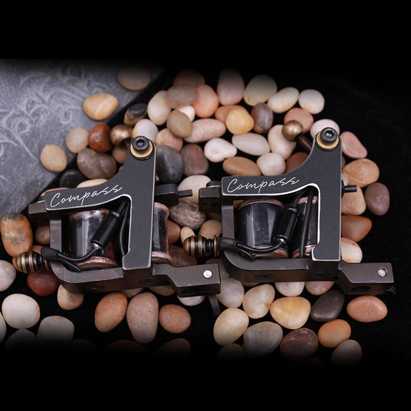 NEW Compass Tattoo Machine Shader Liner Steel Frame Copper Coils MAGELLAN  SERIES -SAMAR professional compass tattoo machine liner