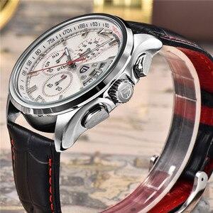 Image 4 - 男性クォーツ腕時計パガーニデザインの高級ブランドファッション時限マルチファンクションダイブ革クォーツ時計レロジオmasculino
