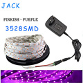 DC 12V 5M/Roll 3528 SMD Non Waterproof Pink 300 Led Flexible Strip String Light Ribbon Tape Lamp + 2A Power Supply Adapter