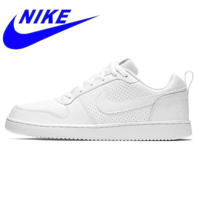 online store d7105 c2518 Original NIKE COURT BOROUGH LOW Men and Women Walking Shoes , White,  Wear-resistant Non-slip Breathable Lightweight 838937 111