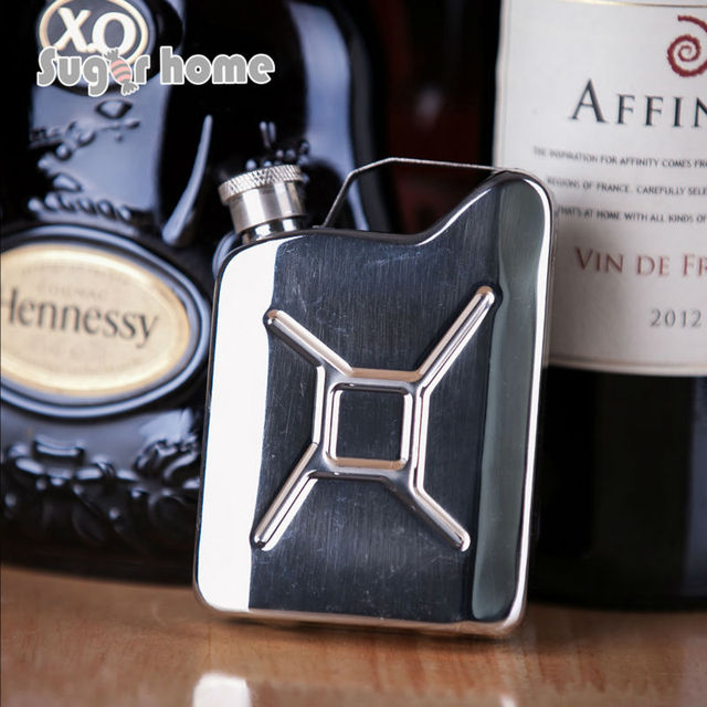 Mealivos Portable Jerrycan 4 oz Food safe Stainless Steel Hip Flask drinkware Alcohol Liquor Whiskey  vodka Bottle gifts
