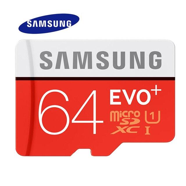 SAMSUNG Memory Card 64G SDXC TF100M Grade EVO+ MicroSD Class 10 Micro SD C10 UHS TF Trans Flash Free Shipping 64GB Original