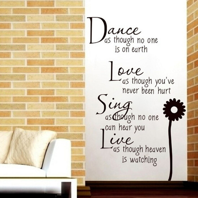 MAARYEE Dance Quotes And Sayings Wall Stickers Removable Vinyl Decal ...