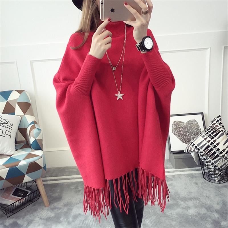 souris Chandail De red 2019 Y550 Chauve Châle Nouveau Black khaki Chaud Automne Pull Roulé Mode Femmes Tnlnzhyn Manches Lâche gray Col Cape R8IqwqxP