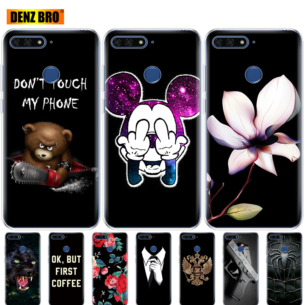 <font><b>For</b></font> <font><b>huawei</b></font> <font><b>Y6</b></font> <font><b>2018</b></font> <font><b>case</b></font> 5.7 inch Atu-L21 <font><b>cover</b></font> <font><b>for</b></font> <font><b>huawei</b></font> <font><b>Y6</b></font> <font><b>Prime</b></font> <font><b>2018</b></font> phone <font><b>case</b></font> protective soft tpu silicone coque bumper image