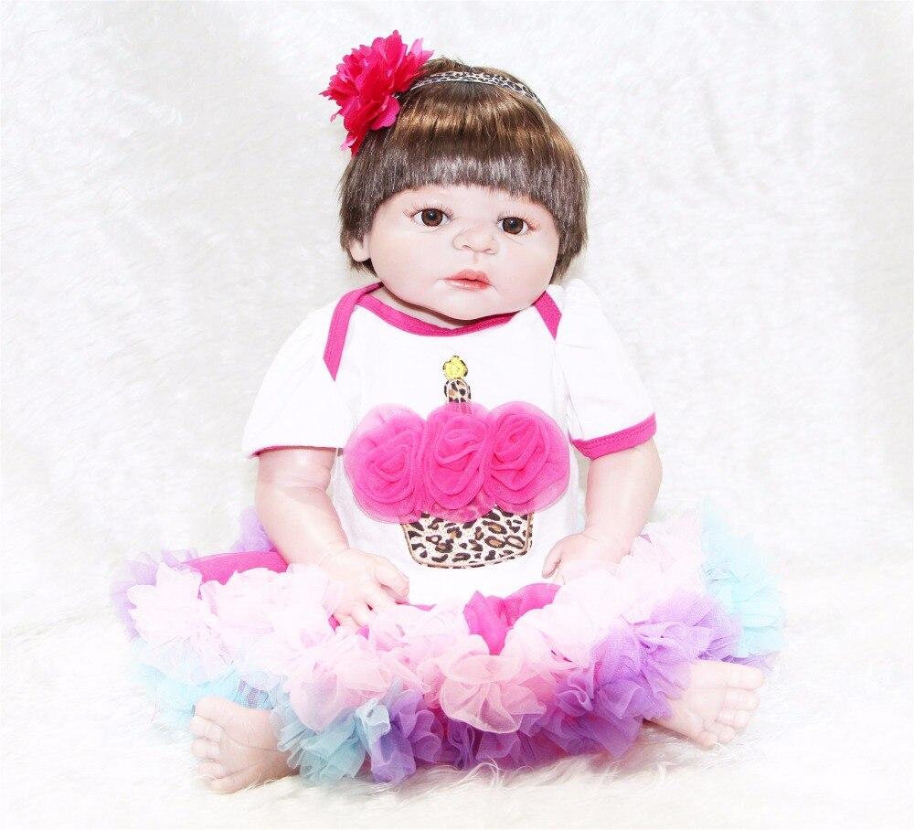 23 Inch NPK Doll Realistic Reborn Babies Full Silicone Vinyl newborn Baby Dolls Kids Birthday Xmas Gift bebe toy reborn bonecas