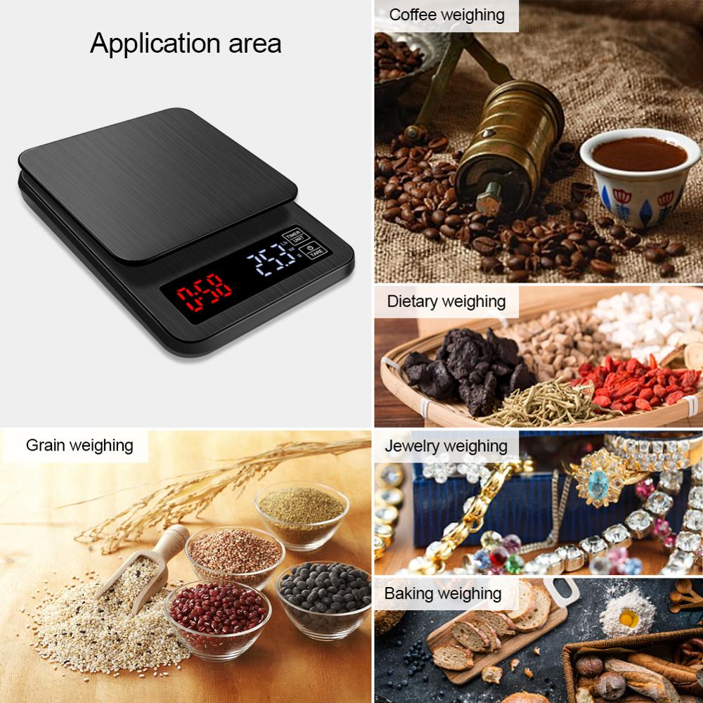Yieryi 2019 Mini LCD Digital Electronic Drip Coffee Scale with Timer 3kg/5kg/10kg 0.1g Weight Household Drip Scale Timer