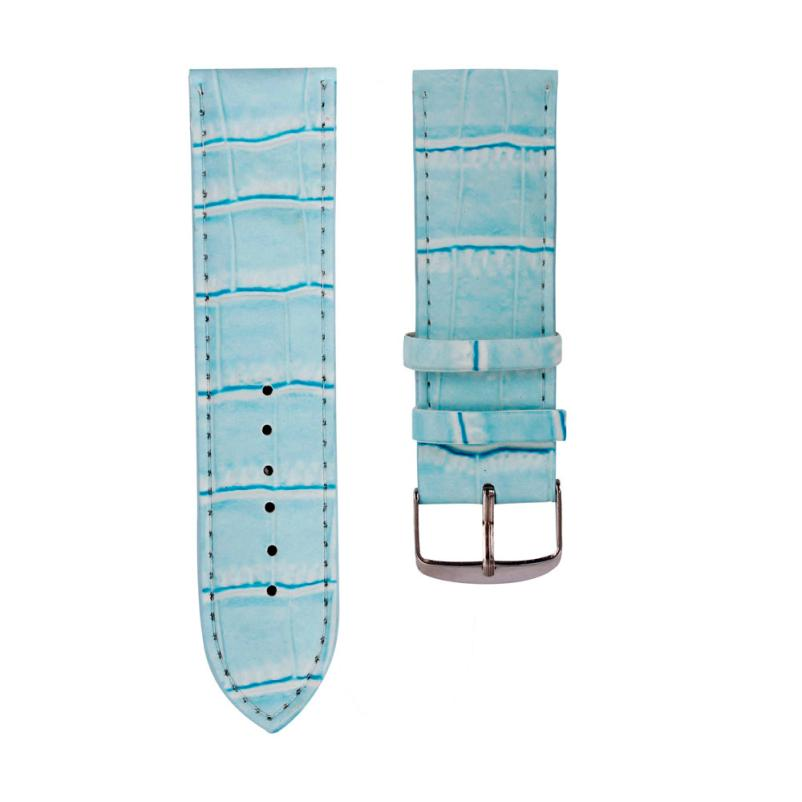Watchband 20mm Fashion Soft Sweatband Leather Watch Band Strap Steel Buckle Wrist Watch Bands Jan09 стоимость