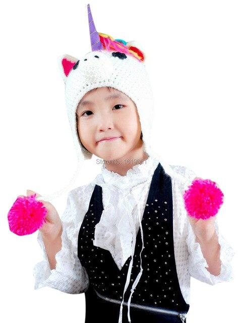 New Unisex Baby Boy Girl Children Unicorn Crochet Soft Cute Knit Hat ...