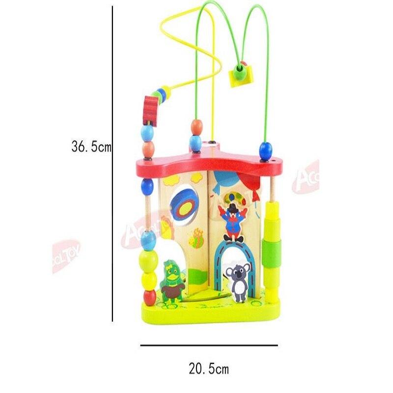 Enfants jouets bois Puzzles pour enfants multi-fonction en bois autour de perle labyrinthe forme Top qualité 3d Puzzle Juguete Madera pour bébé - 5