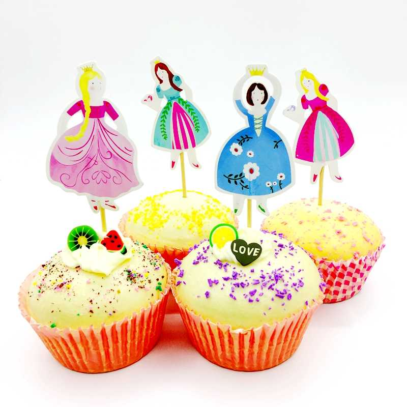 Detail Feedback Questions About 48pcs Cartoon Princess Cupcake