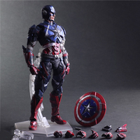 Hot 27cm Avengers Super Hero Captain America Enhanced Version Action Figure Toys Doll Collection Christmas Gift