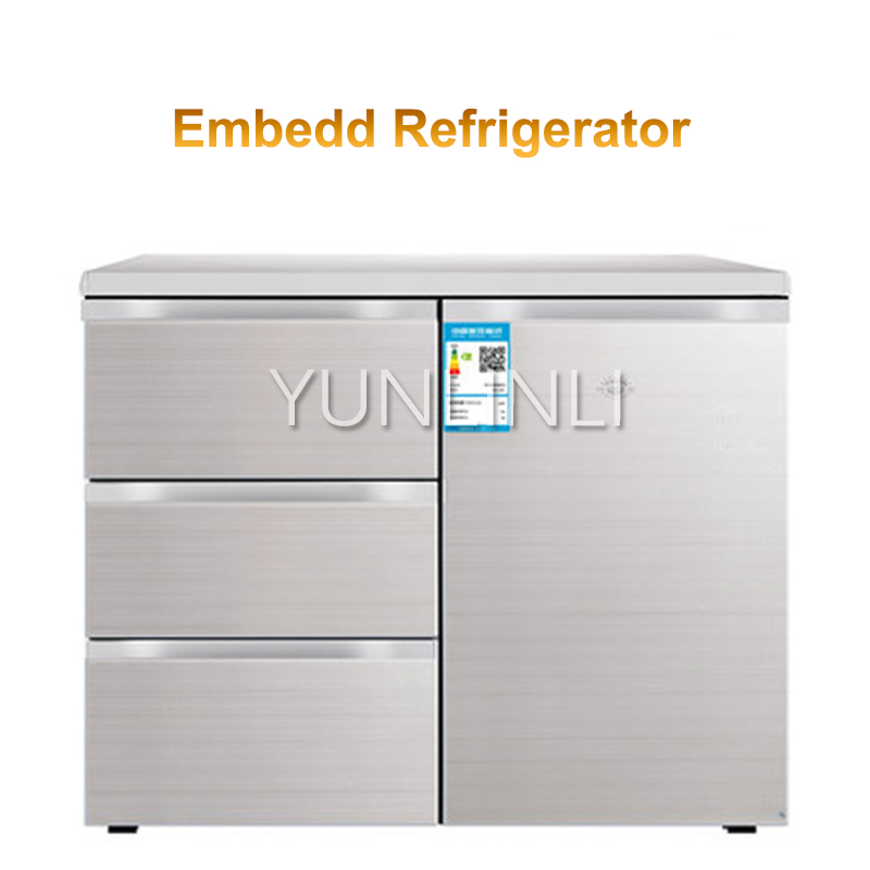 Household Embedded Refrigerator Household Multi-door Refrigerator Horizontal Type Electric Refrigerator BCD-210CV
