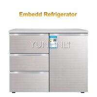 Household Embedded Refrigerator Household Multi door Refrigerator Horizontal Type Electric Refrigerator BCD 210CV