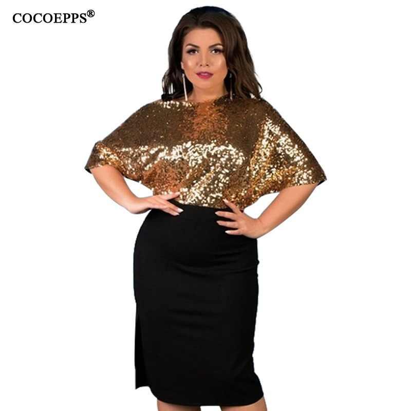 aa1d0b478bd 5XL 6XL 2019 Sequined Plus Size Women Dress Summer Sexy Split Big Large  Size Dress Off