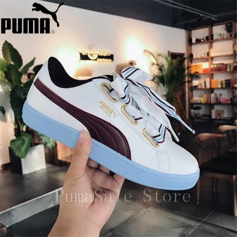 PUMA Basket Heart New School Women s Sneakers Badminton Shoes Size 2018 New  Arrival 35.5-40 390349f73