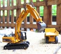 1 50 Construction Toy Vehicle Excavator Dumper Loader Truck Car Alloy High Simulation Car Model For