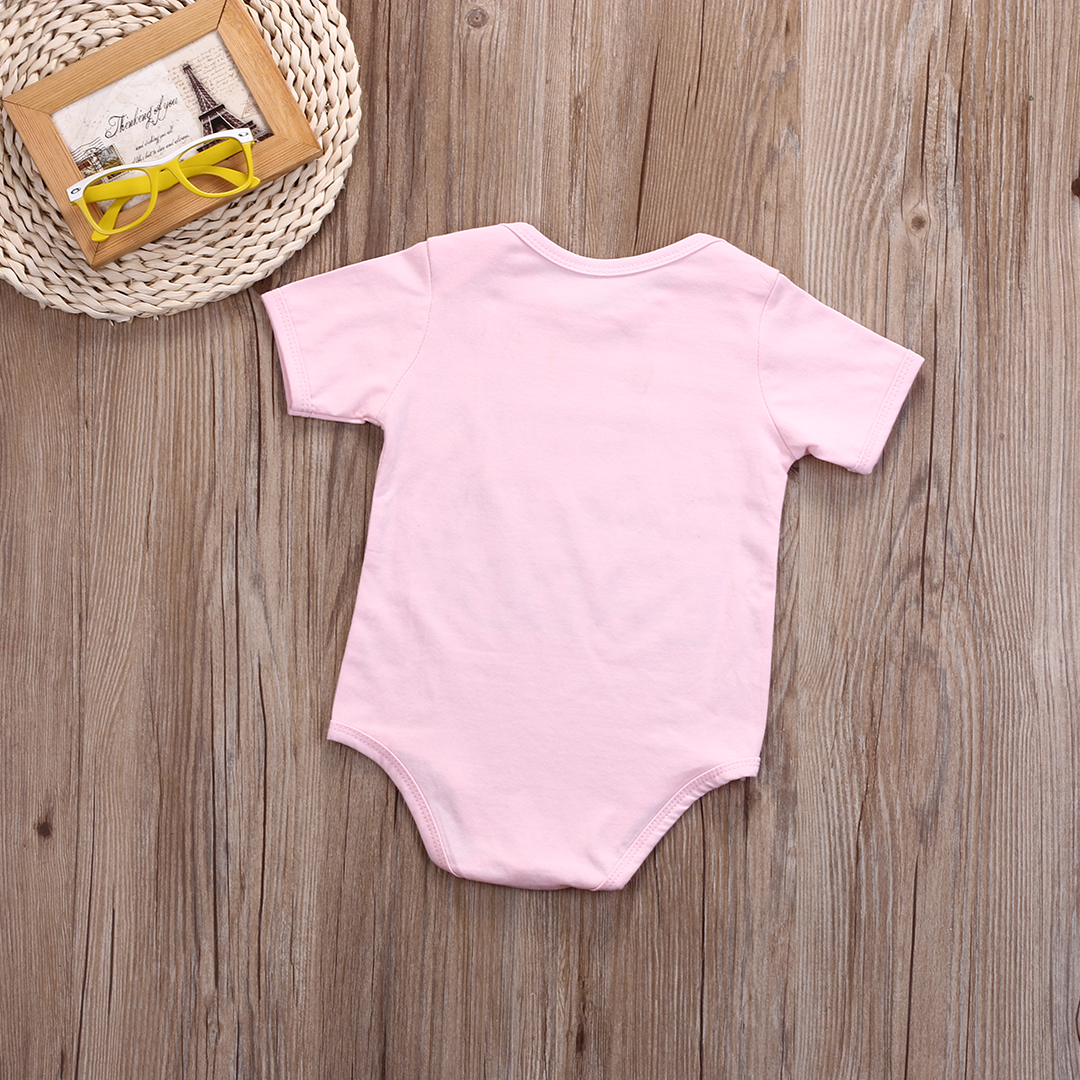 fac70b21f7117 Letter Mommy Daddy 1 Pcs Newborn Babies Girls Bodysuits Infant Baby Girl  Cotton Pink Bodysuit Jumpsuit Outfits Clothes 0 18M-in Bodysuits from Mother    Kids ...