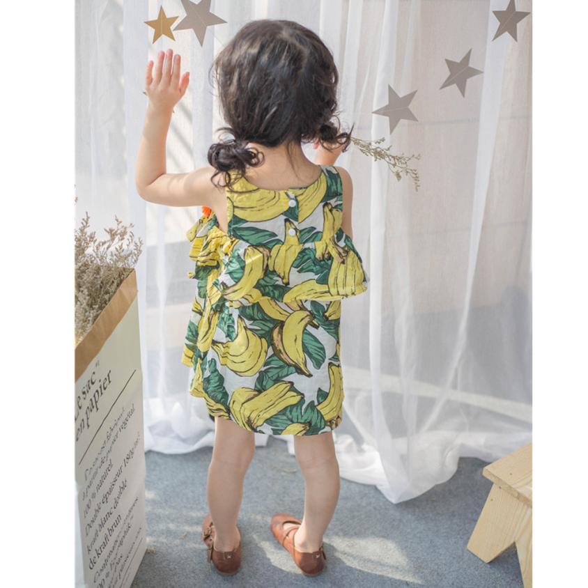 Hot Toddler Kids Baby Girls Banana bojt hercegnő ruha Sundress - Gyermekruházat - Fénykép 3