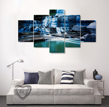 (No Framed)Huge Albion Falls Ontario Canada Beautiful Landscape Waterfall 5 Panels Set Home Decoration Wall Art Prints Canvas(China)