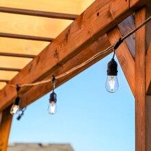 SXZM 10M 10LED Waterproof Commercial Outdoor Grade String Lights E27 filament bulb Street Garden Patio Backyard Holiday Lighting