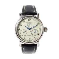 本カモメフルカレンダーグランド日付ギョーシェタマネギクラウン展自動メンズ腕時計 819.315 イエローダイヤル