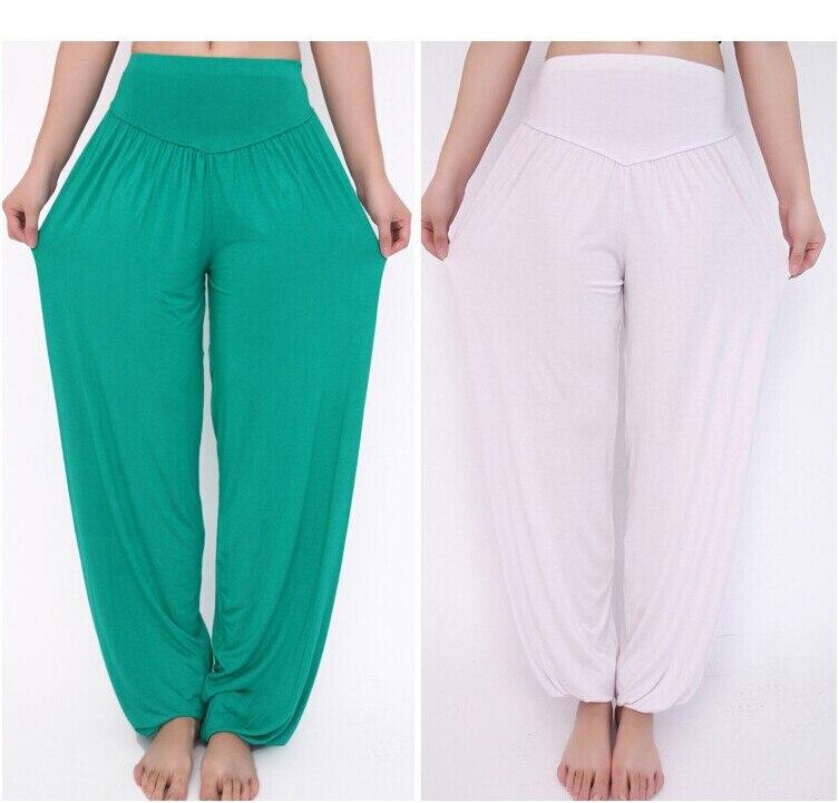 Pants Flare Pant Dance Club Boho Wide Leg Loose Long Trousers Bloomers P HOT Cotton High Waist Stretch Women Harem Pants S por