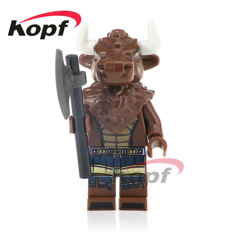 Single Sale PG1115 Super Heroes Tauren Minotaur Nuclear Workers Joker Bricks Model Building Blocks Christmas Toys for children single sale super heroes defensive team members dolls model bricks christmas building blocks education toys for children pg8081