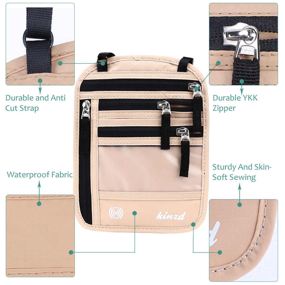 جديد الرقبة حزام حقيبة السفر الحقيبة حقيبة المخفية الميثاق الأمن الخصر id حامل جواز سفر الرقبة المخفية محفظة