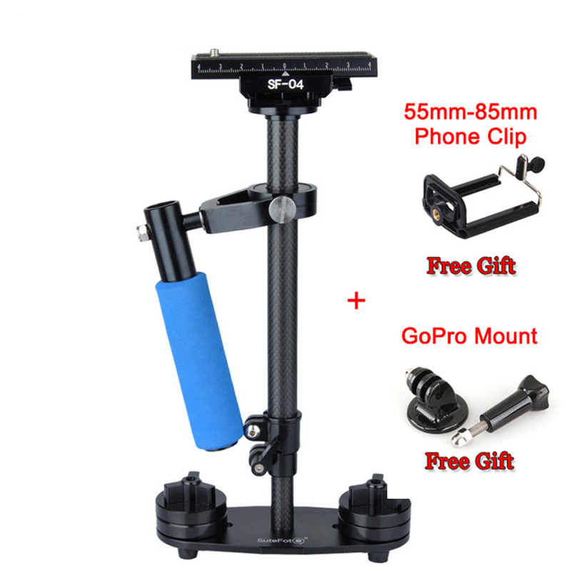 SF-04 Mini Handheld Carbon Fiber Video Camera Stabilizer Grip with Quick Release Plate for Sony Pentax Canon Nikon DSLR Cameras ashanks mini carbon fiber handheld stabilizer pro version for camera video dv dslr nikon canon sony