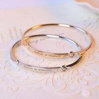 Personalized Initial Bracelet Bangle DIY Women S Gift Gold Bar Custom Engraved Name Bracelet Laser Engraving