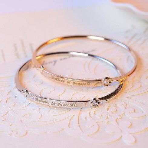 Personalizzato Iniziali Bracciali Braccialetti per Le Donne Regalo Lingotto D'oro Bracciale Personalizzato Inciso Nome Braccialetto Lettere di Incisione Gioielli
