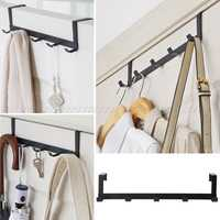 Over-The-Door Hook Rack Metal Hanger Storage Holder Hanging Coat Hat Towel Bag JUL24 dropship