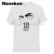 Men Argentina Paulo Dybala #10 mask gestures La Joya T-shirt Clothes T Shirt Men's for fans gift o-neck tee W17080701
