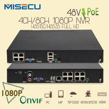 Caliente 48 V Real POE 1080 P 4CH/8CH Onvif NVR Red Grabador de Vídeo de $ number MEGAPÍXELES FULL HD 1080 P Cámara IP POE ONVIF PoE 48 V 802.3af 2.0 XMEYE